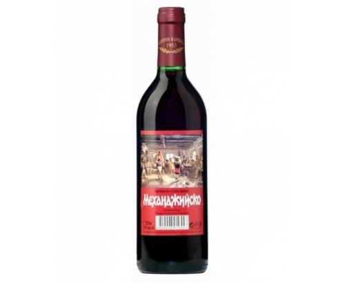 Вино Механджийско 750мл Червено