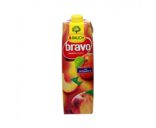 Негазирана безалкохолна напитка Браво 1л Праскова и ябълка