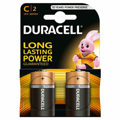Алкални батерии Дюрасел 2бр C