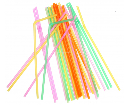 Цветни сламки 100бр