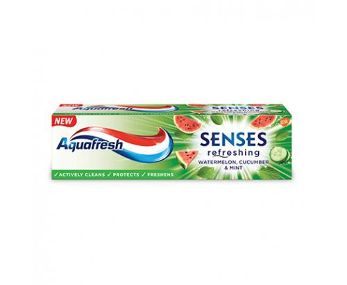 Паста за зъби Аквафреш Сенсес 75мл Диня, краставица и мента