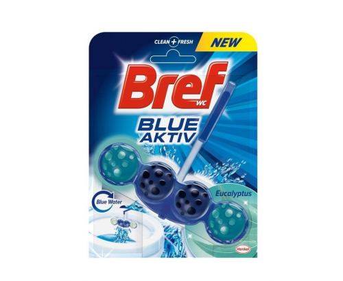 Ароматизатор за тоалетна Бреф 50г Блу актив топчета Евкалипт