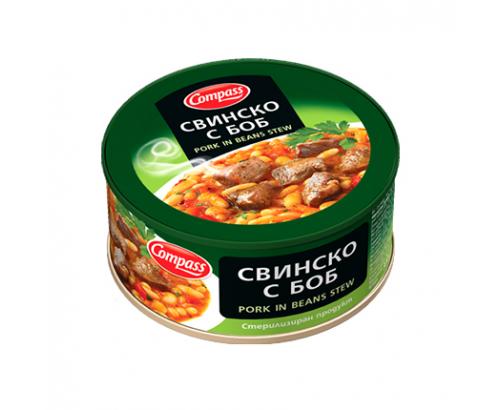 Свинско месо с боб Компас 300г