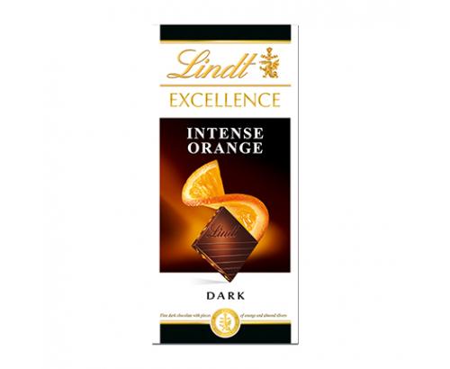 Шоколад Линдт Ексълънс 100г Натурален с портокал