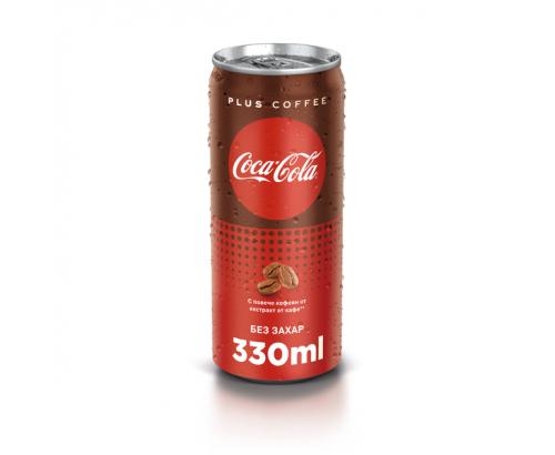 Газирана напитка Кока Кола Плюс Кафе 330мл Кен
