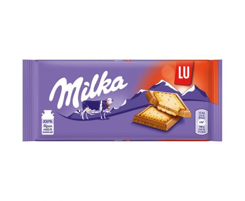 Шоколад Милка 87г Сандвич Лу