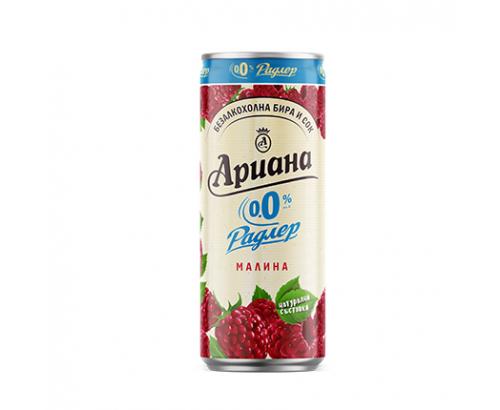Бира Ариана Радлер 330мл Малина 0% алкохол